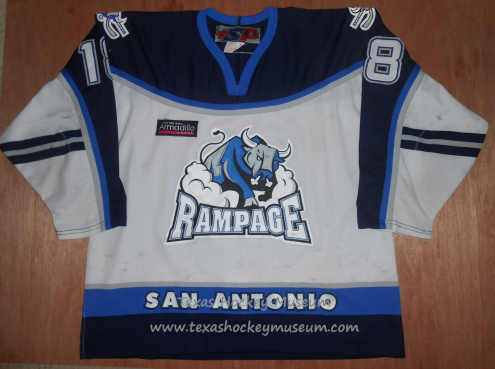 Kamil Piros - Kamil Piros Jersey - Texas Hockey - San Antonio Rampage Hockey - San Antonio Hockey - IHL Hockey - International Holckey League - AHL Hockey - American Hockey League
