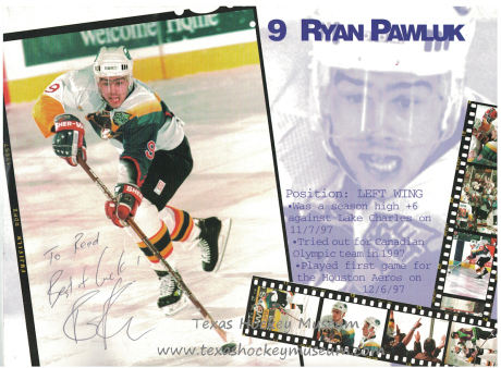 Ryan Pawluk - Ryan Pawluk Jersey - Texas Hockey - Austin Hockey - Austin Ice Bats Hockey - WPHL Hockey - Western Proffessional Holckey League- CHL Hockey - Central Hockey League