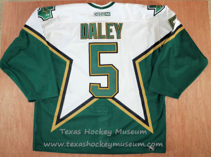 Trevor Daley - Trevor Daley Rookie Jersey - Texas Hockey - Austin Hockey -Dallas Hockey- Dallas Stars Hockey - Texas Stars Hockey - NHL Hockey - National Holckey League- AHL Hockey - American Hockey League