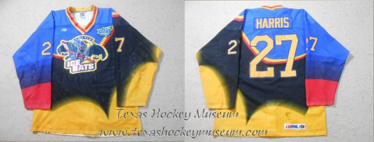 Todd Harris - Todd Harris Jersey - Texas Hockey - Austin Hockey - Austin Ice Bats Hockey - WPHL Hockey - Western Proffessional Holckey League- CHL Hockey - Central Hockey League