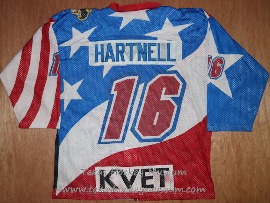 Rob Hartnell - Rob Hartnell Jersey - Texas Hockey - Austin Hockey - Austin Ice Bats Hockey - WPHL Hockey - Western Proffessional Holckey League- CHL Hockey - Central Hockey League