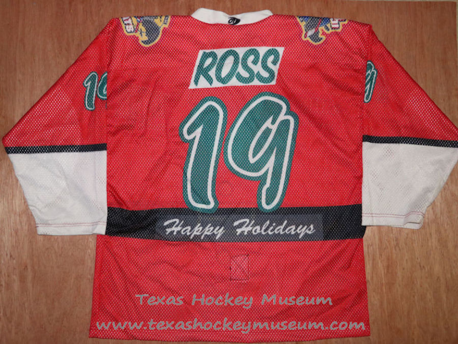 Andy Ross - Andy Ross Jersey - Texas Hockey - Austin Hockey - Austin Ice Bats Hockey - WPHL Hockey - Western Proffessional Holckey League- CHL Hockey - Central Hockey League