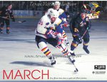 1996-1997 WPHL Austin Ice bats Team Calander March Troy Binnie