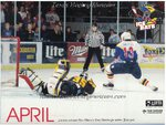 1996-1997 WPHL Austin Ice bats Team Calander April Paul Lawless
