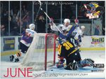 1996-1997 WPHL Austin Ice bats Team Calander June Ryan Anderson