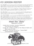 1996-1997 WPHL Austin Ice Bats Opening Night Roster Page 2